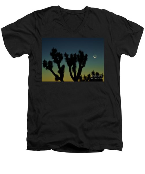 Men's V-Neck T-Shirt featuring the photograph Waning by Angela J Wright