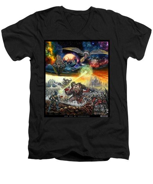 War Has No Boundaries  Men's V-Neck T-Shirt