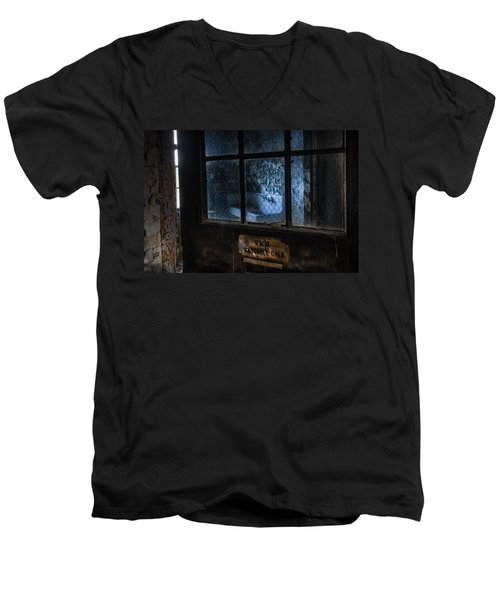 Men's V-Neck T-Shirt featuring the photograph Ward Personnel Only by Gary Heller