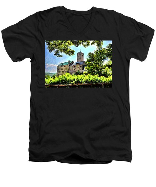 Wartburg Castle - Eisenach Germany - 1 Men's V-Neck T-Shirt