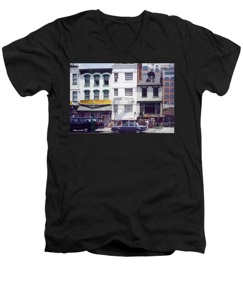Washington Chinatown In The 1980s Men's V-Neck T-Shirt