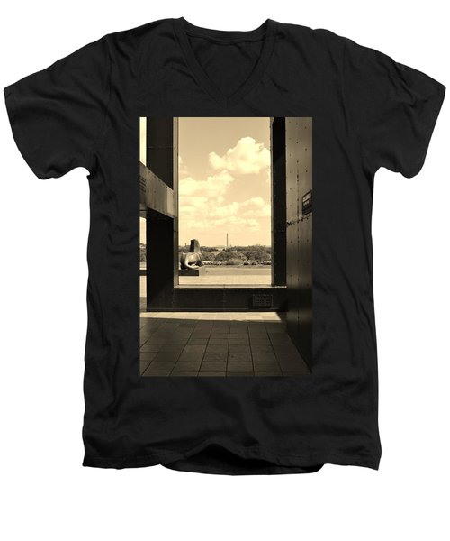 Men's V-Neck T-Shirt featuring the photograph Washington Dc Framed by Jean Goodwin Brooks
