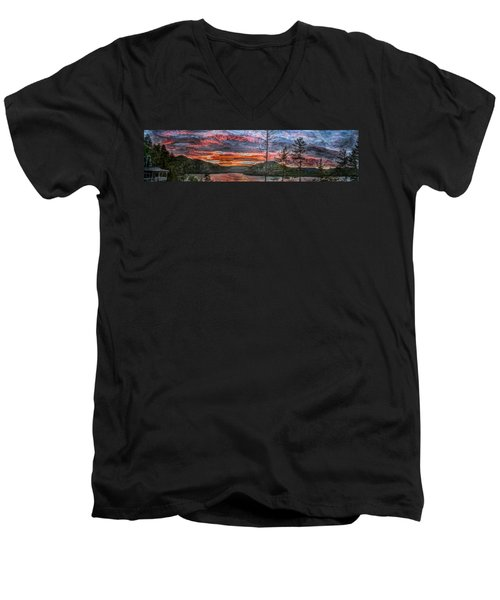 Watauga Lake Sunset Men's V-Neck T-Shirt