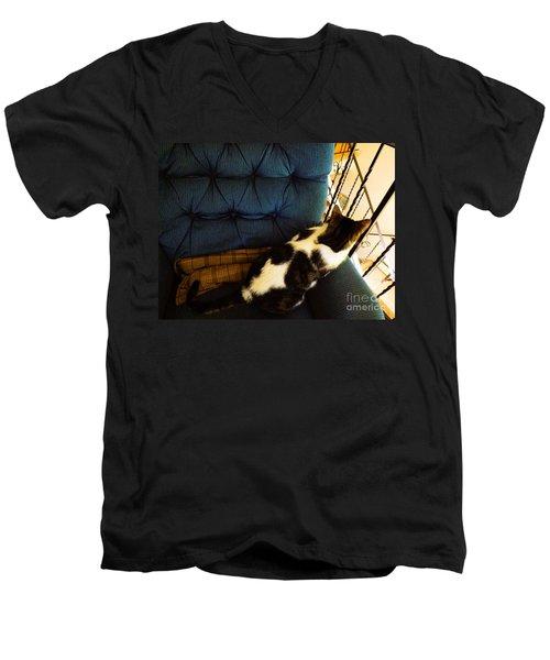 Watch Cat Men's V-Neck T-Shirt