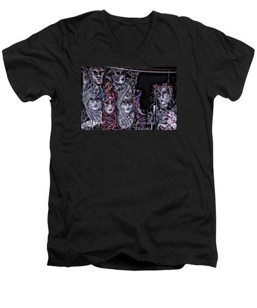 Watching You Venice Italy Men's V-Neck T-Shirt by Tom Prendergast