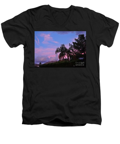 Water Colored Sky Men's V-Neck T-Shirt by Jay Milo