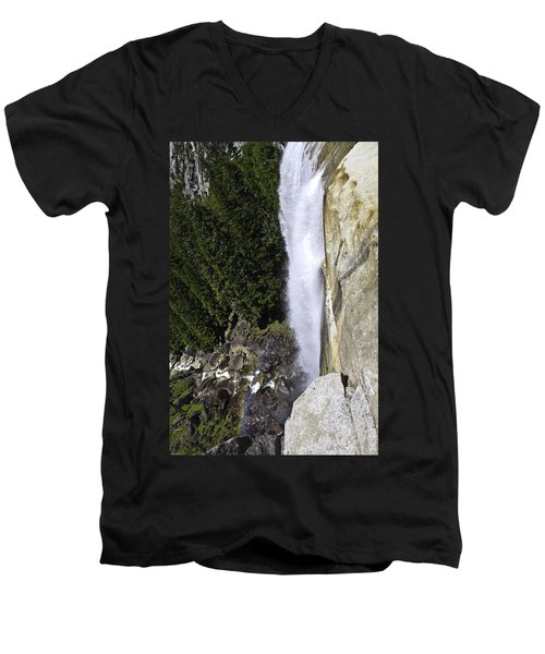 Men's V-Neck T-Shirt featuring the photograph Water Fall by Brian Williamson
