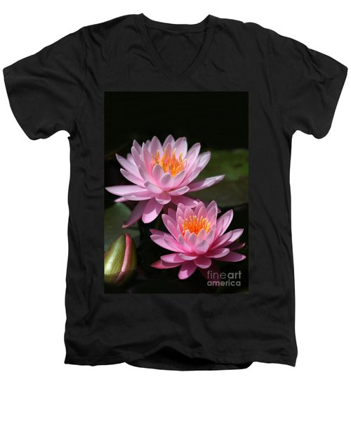 Water Lilies Love The Sun Men's V-Neck T-Shirt