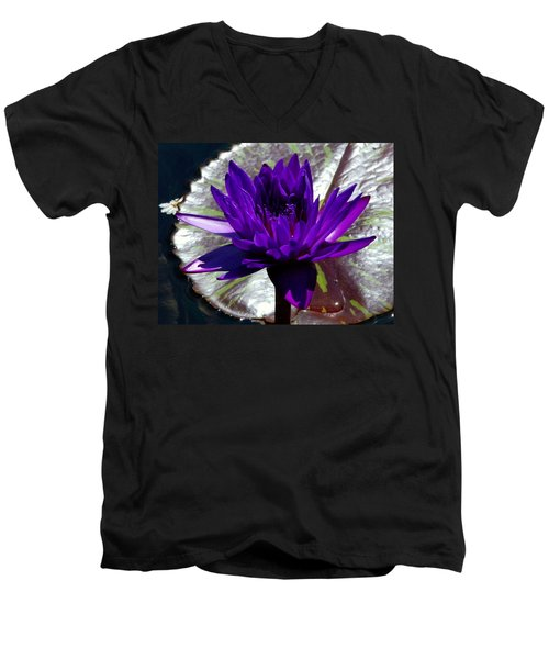 Water Lily 008 Men's V-Neck T-Shirt