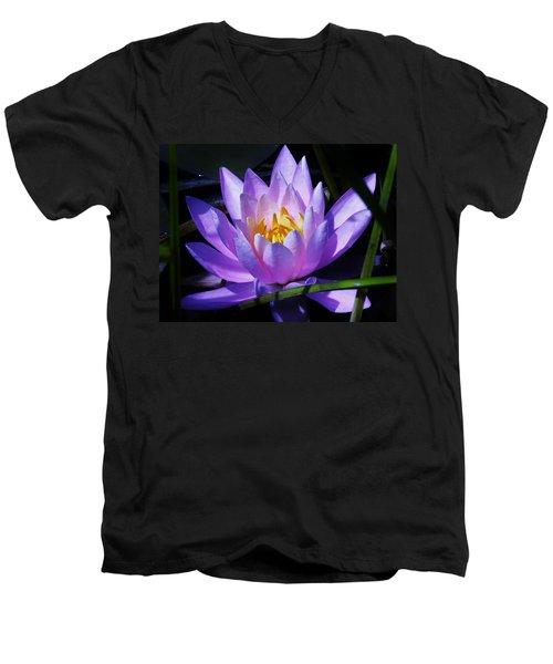 Water Lily Blues Men's V-Neck T-Shirt