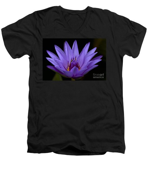 Men's V-Neck T-Shirt featuring the photograph Water Lily Photo by Meg Rousher