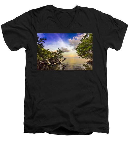 Water Sky Men's V-Neck T-Shirt by Marvin Spates