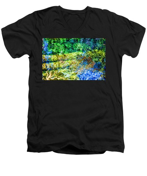 Water Tree Reflections Men's V-Neck T-Shirt
