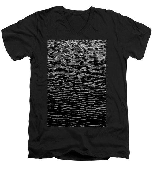 Water Wave Texture Men's V-Neck T-Shirt