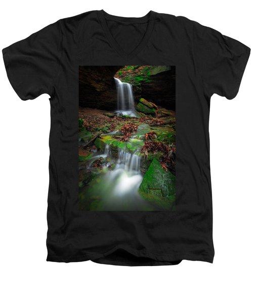 Frankfort Mineral Springs Waterfall  Men's V-Neck T-Shirt