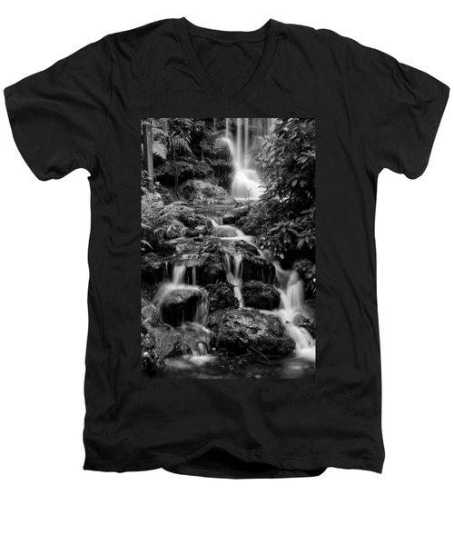 Waterfall At Rainbow Springs Men's V-Neck T-Shirt by Beverly Stapleton