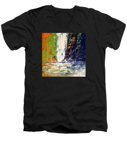 Waterfall No. 1 Men's V-Neck T-Shirt