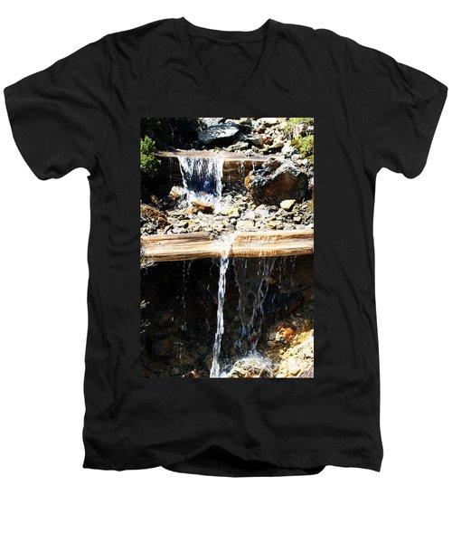 Waterfall Steps Men's V-Neck T-Shirt