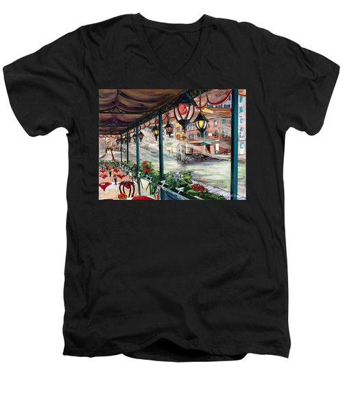 Waterfront Cafe Men's V-Neck T-Shirt