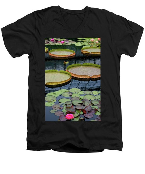 Waterlilies And Platters 2 Men's V-Neck T-Shirt