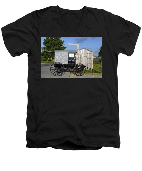 Watermelon Wagon Men's V-Neck T-Shirt