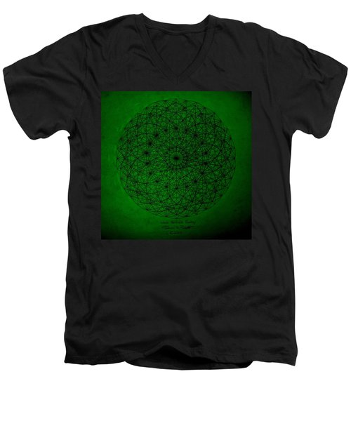 Wave Particle Duality II Men's V-Neck T-Shirt by Jason Padgett