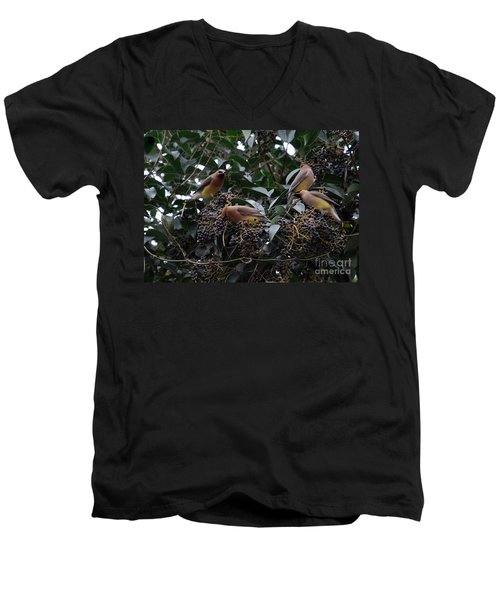 Wax Wings Supper  Men's V-Neck T-Shirt by Skip Willits