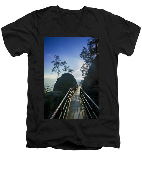 Way Into The Light On Neurathen Castle Men's V-Neck T-Shirt