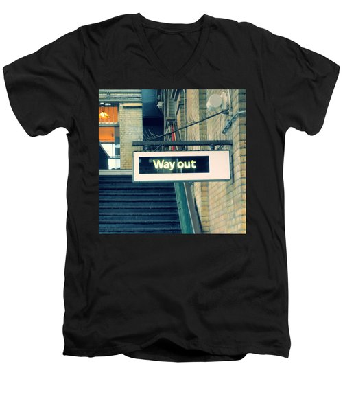 Way Out Men's V-Neck T-Shirt