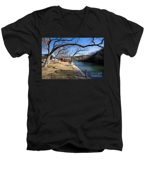 Men's V-Neck T-Shirt featuring the photograph We Are Trees And We Are Life by John Wadleigh