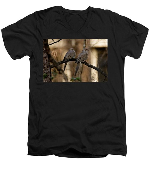 Men's V-Neck T-Shirt featuring the photograph We Came Together - We're Leaving Together by Robert L Jackson