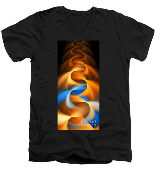 Weaving Color  Men's V-Neck T-Shirt