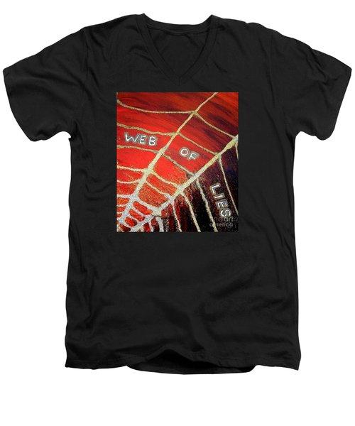 Web Of Lies Men's V-Neck T-Shirt