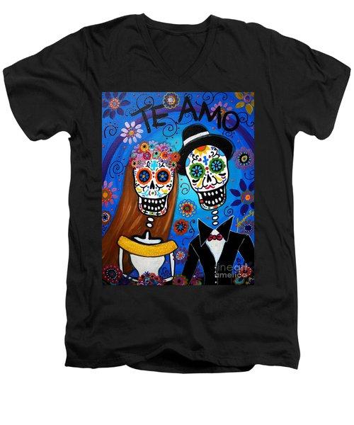 Wedding Couple  Men's V-Neck T-Shirt