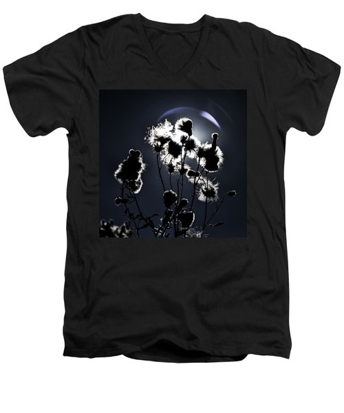 Weed Silhouette Men's V-Neck T-Shirt