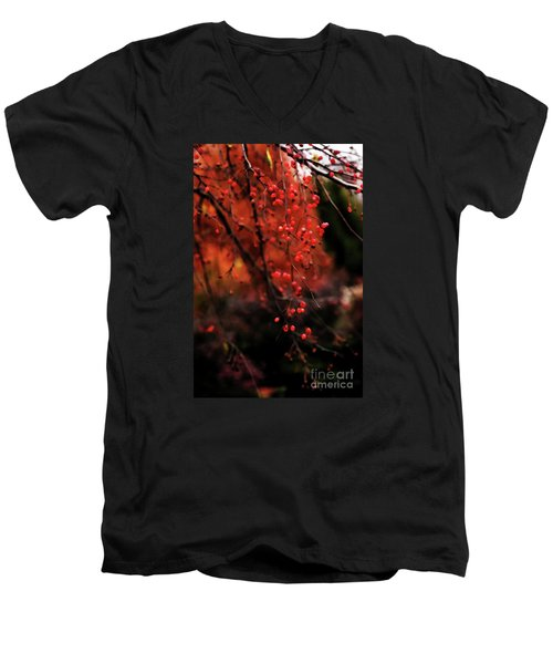Men's V-Neck T-Shirt featuring the photograph Weeping by Linda Shafer