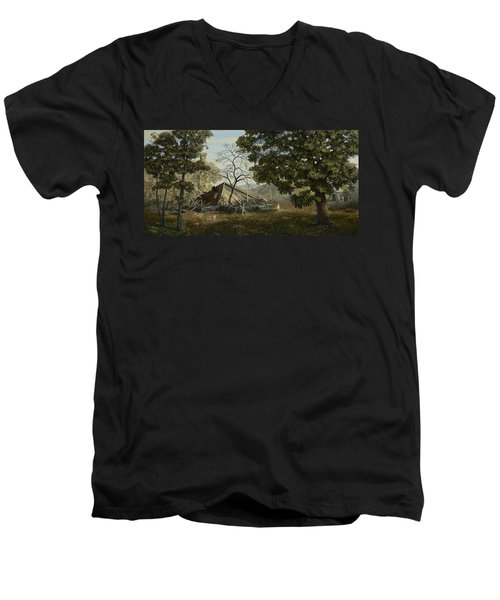 Welcome Home Men's V-Neck T-Shirt by Duane R Probus