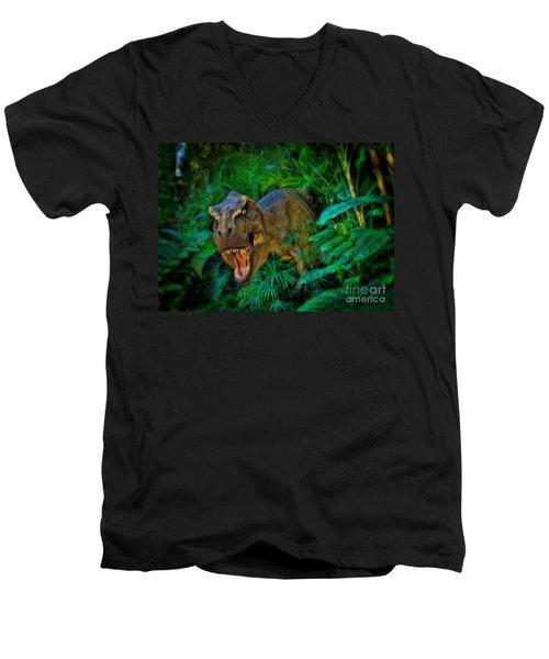 Welcome To My Park Tyrannosaurus Rex Men's V-Neck T-Shirt