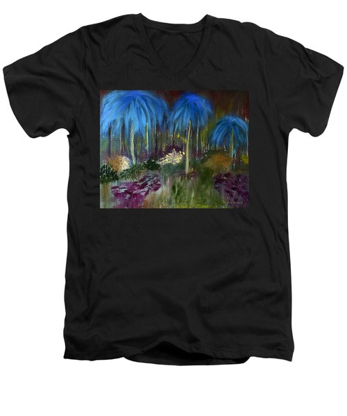 Welcome To The Jungle Men's V-Neck T-Shirt by Dick Bourgault