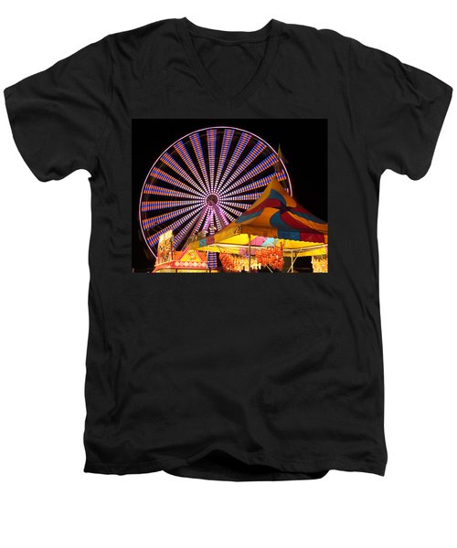 Welcome To The Nys Fair Men's V-Neck T-Shirt by Richard Engelbrecht
