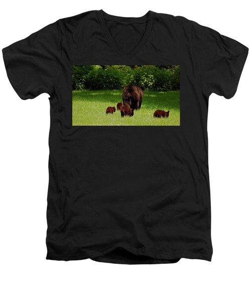 We'll Be Back Men's V-Neck T-Shirt
