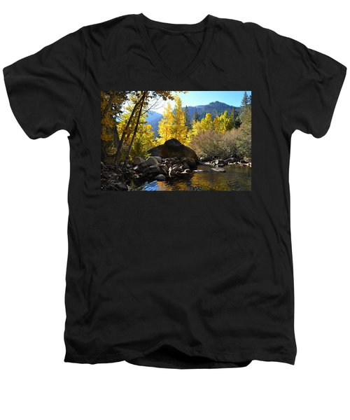West Fork Of The Carson River Men's V-Neck T-Shirt