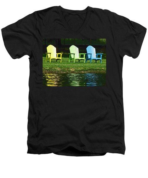 Westchester Adirondacks Men's V-Neck T-Shirt