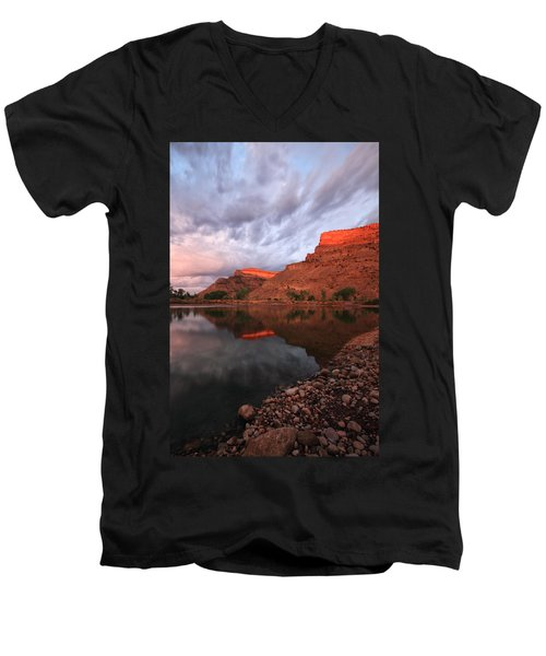 Men's V-Neck T-Shirt featuring the photograph Western Colorado by Ronda Kimbrow