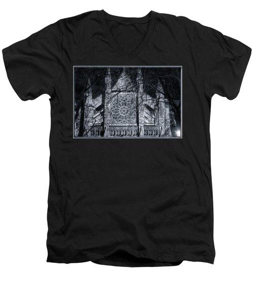 Westminster Abbey North Transept Men's V-Neck T-Shirt