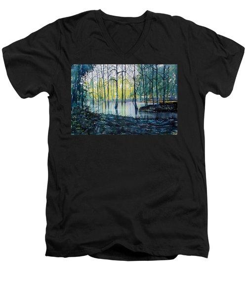 Wetlands On Skipwith Common Men's V-Neck T-Shirt