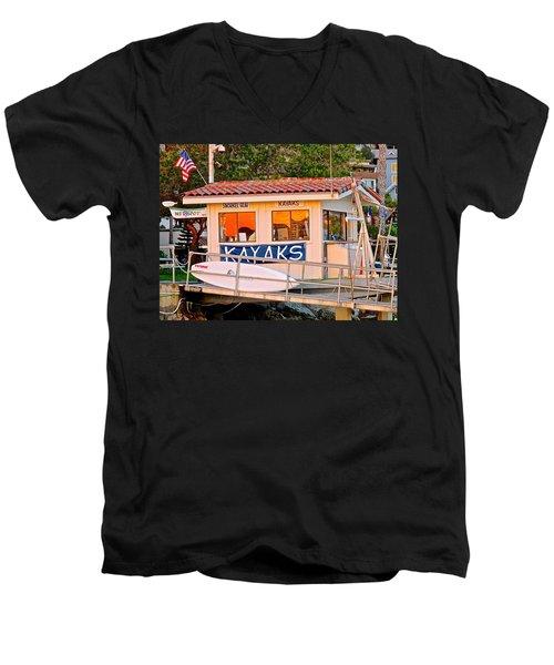 Wetspot Kayak Shack Men's V-Neck T-Shirt