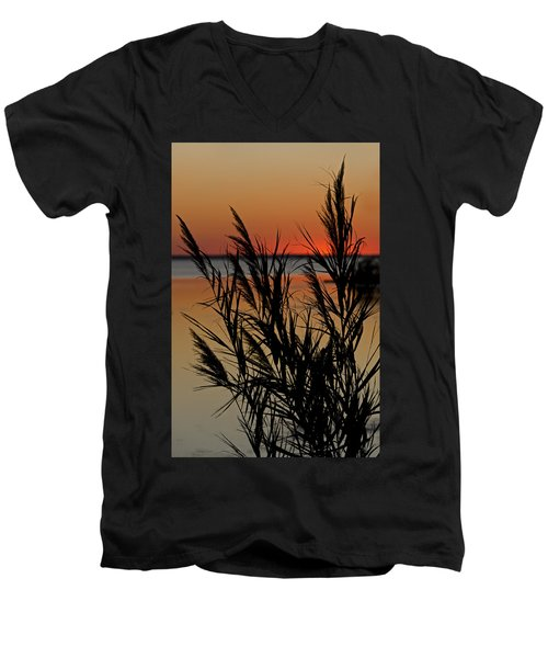 Men's V-Neck T-Shirt featuring the photograph Whalehead Sunset Obx II by Greg Reed