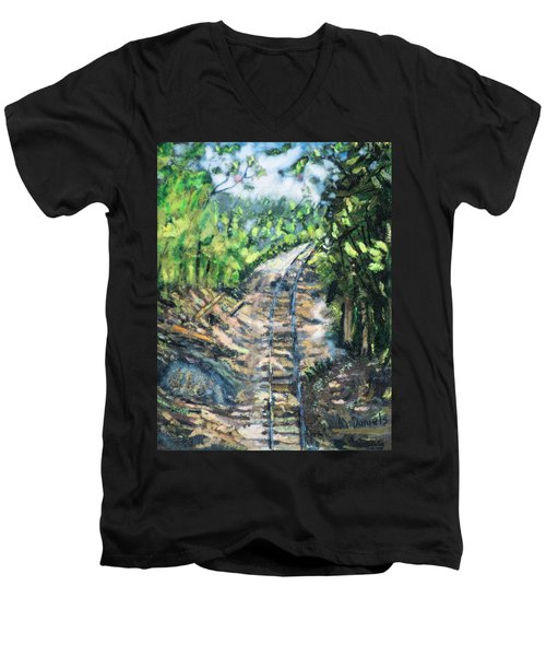 What's Around The Bend? Men's V-Neck T-Shirt