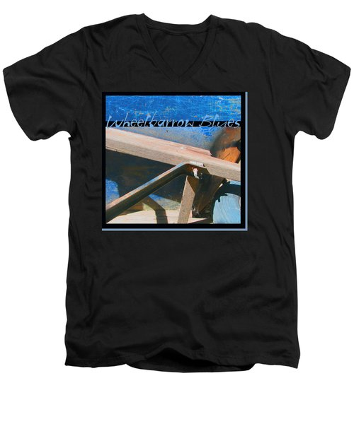 Men's V-Neck T-Shirt featuring the photograph Wheelbarrow Blues 2 Extra by Brooks Garten Hauschild